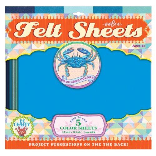 eeBoo Blue Crab Colors Felt Sheets