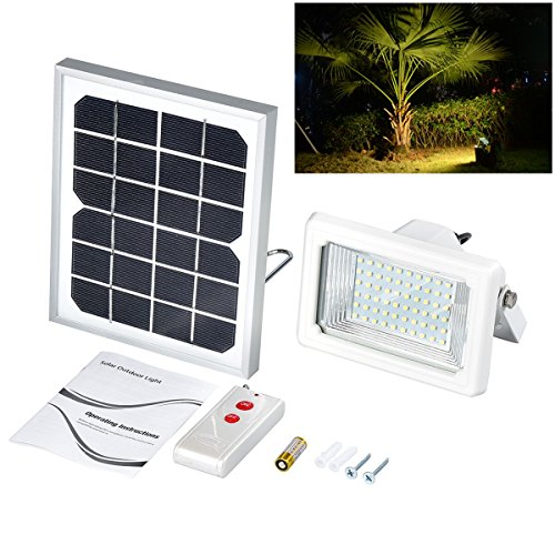 Solar flood lightfindyouled warm white 60led 260 lumen outdoor solar flood lightfindyouled warm white 60led 260 lumen outdoor waterproof security landscape lights with remote control home garden lighting lighting well mozeypictures Choice Image