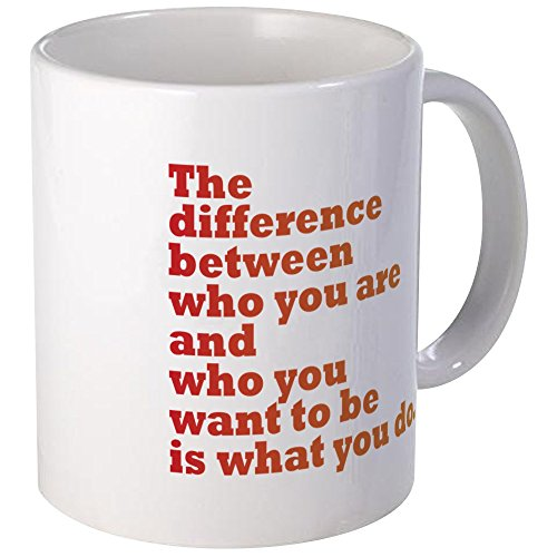Cafepress the difference red orange unique coffee mug 11oz coffee cup - Cool coffee cups that make a visual difference ...