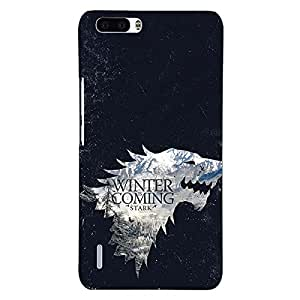 Jugaaduu Game Of Thrones GOT House Stark Back Cover Case For Honor 6 Plus