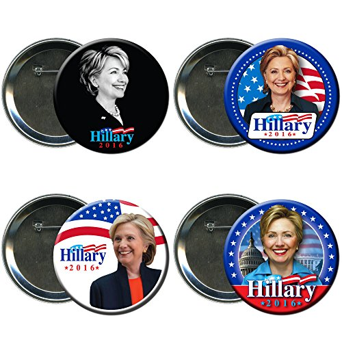 Hillary Clinton Round Button / Pin Combo Campaign Set 1 (Election Buttons compare prices)