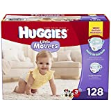 Huggies Little Movers Diapers, Size 3, 128 Count (Packaging may vary)