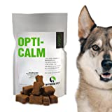 #1 Calming dog treats - 60 Veterinary Grade relaxation chews to relieve symptoms of separation anxiety, dog stress relief, hyperactivity & assist as a dog sleeping aid. Suitable for Large, Medium or Small Dogs. Satisfaction Guaranteed, MADE IN USA.