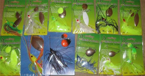 12 Assorted Spinnerbaits Carded NIP Fishing Tackle Lure