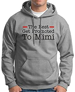 The Best Get Promoted to Mimi, New Grandma Gift Premium Hoodie Sweatshirt Small Light Steel