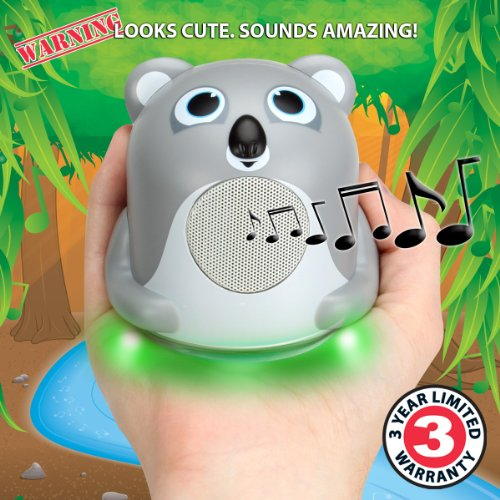 Mini Portable iOS MP3 Speaker with Powerful Bass and Junior Koala Design by GOgroove - Works With Apple iPod Nano , iPod Shuffle , iPod Touch , Waterfi and More Mini MP3 Players **Includes Accessory Bag** mymei best price new portable 3 5mm pillow speaker for mp3 mp4 cd ipod phone white