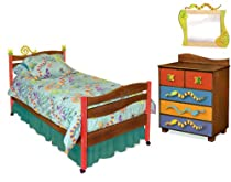 Big Sale Room Magic Chocolate 5 Piece Bedroom Set, Little Lizard