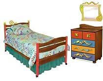 Hot Sale Room Magic Chocolate 5 Piece Bedroom Set, Little Lizard