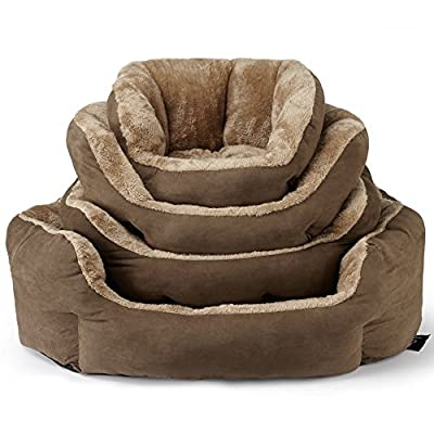 Bunty Polar Dog Bed Soft Washable Fleece Fur Cushion Warm Luxury Pet Basket