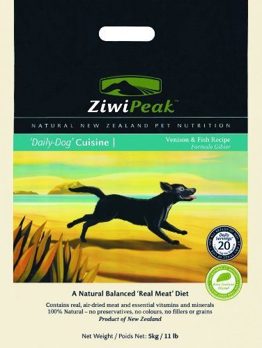 ZiwiPeak Real Meat Grain Free Air Dried Raw Dog Food, Venison & Fish, 11lb