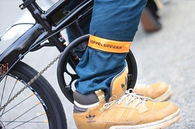 DOPPELGANGER(ドッペルギャンガー) LED裾バンド DA018LB 自転車・ウォーキング用ポジションライト 4連LED 反射素材採用 防滴仕様 軽量18g [連続点滅200時間]