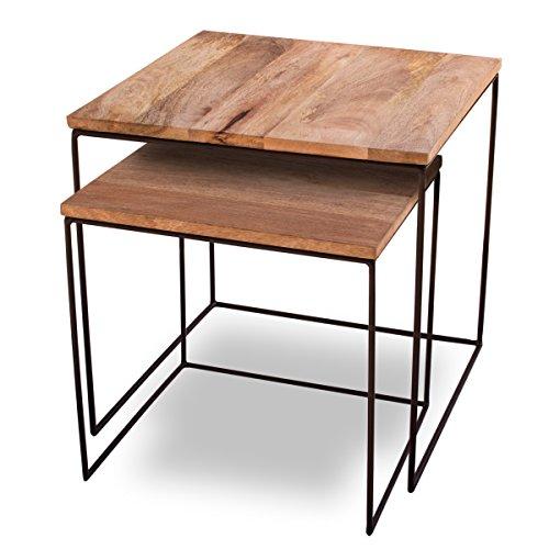 Beistelltisch-2er-Set-Mango-Cubes-Design-Tische-44x44cm