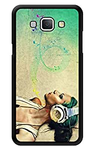 "Humor Gang Girl With Headphones - Music Printed Designer Mobile Back Cover For ""Samsung Galaxy A8"" (3D, Glossy, Premium Quality Snap On Case)"