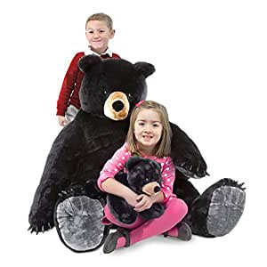 Melissa & Doug Black Bear and Cub - Plush