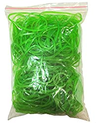Flexi Rubber Bands Green - 2.5 inch Diameter - 200 pcs