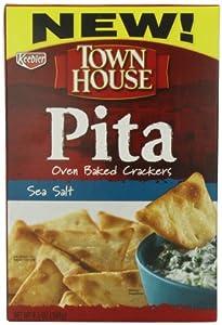 Keebler Town House Pita Crackers, Sea Salt, 9.5 Ounce