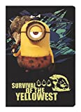 Cuaderno tradicional cuaderno A5 cuadriculado Minions Survival of the West Yello 60 páginas