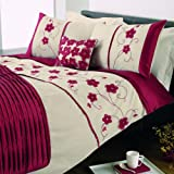Dreams 'n' Drapes Macy Super King Quilt Set, Red