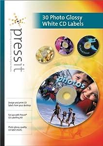 PressIT Labels Photo Glossy/White 30pk