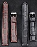 Shop XJ 腕時計 交換 ベルト 本革 クロコダイル 型押し 22mm バネ棒外し 交換 ピン2本 クロス セット (ブラウン)