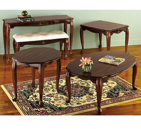 Image of Cherry Rectangular End Table, 21