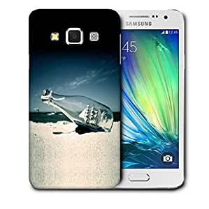 Snoogg White Boat Bottle Designer Protective Back Case Cover For SAMSUNG GALAXY A3