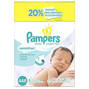 Pampers Sensitive Wipes 7x Box 448 Count