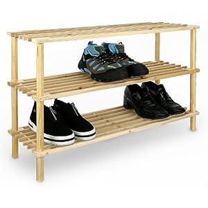 Scarpiera in legno porta scarpe da pavimento con 3 ripiani - Porta scarpe fai da te ...