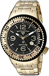 Swiss Legend Men's 21848P-YG-11-GBB Neptune Force Analog Display Swiss Quartz Gold Watch