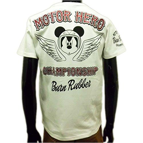 (ローブローナックル) LOWBLOWKNUCKLE×ミッキーマウスコラボレーション半袖Tシャツ (LL) 白