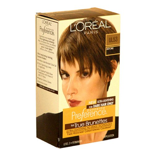 L'Oreal Superior Preference Ultra-Lightening For Dark Hair Only Ul53 Ultra Light Beige Brown