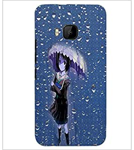 PrintDhaba Umbrella Girl D-5003 Back Case Cover for HTC ONE M9 (Multi-Coloured)