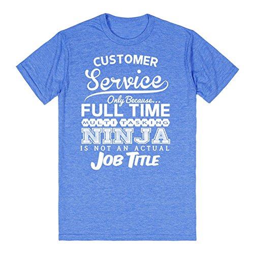 Ninja Customer Service | L Heathered Royal T-Shirt (Customer Service Shirt compare prices)