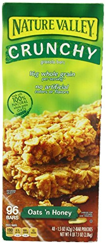 Nature Valley Crunchy Granola Bars Oats 'N Honey, 96-Count