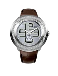 RSW Men's 9130.BS.L9.52.F1 Volante Diamond Stainless Steel Sunray Dial Luminous Brown Leather Watch
