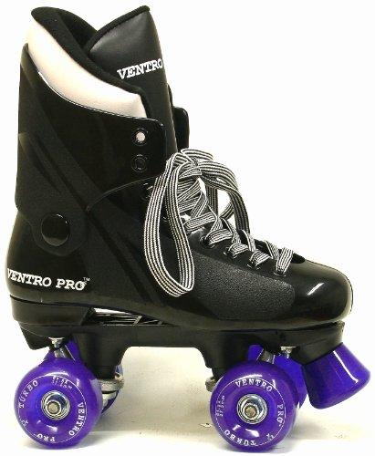 VT01 Turbo Ventro Pro Quad Roller Skates with Purple Wheels EU38