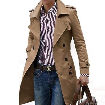 (ネルロッソ) NERLosso トレンチコート メンズ コート メンズコート メンズトレンチコート カジュアル ビジネス ロング L ベージュ cmd24178-L-be