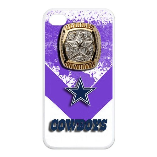 ebaykey Custombox NFL football Dallas Cowboys Super Bowl Rings iPhone 4 4s Best Durable Silicone Cover Case For Fans at Amazon.com