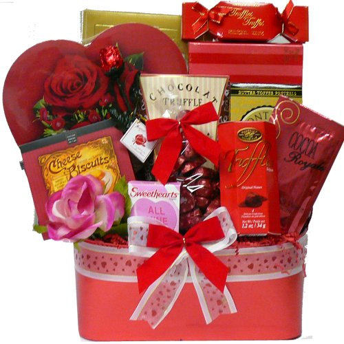 My Darling Valentine Chocolate and Candy Gift Basket
