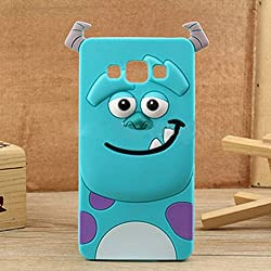 Cute Cartoon Monster Design Soft Silicone Back Case Cover For Samsung Galaxy A7