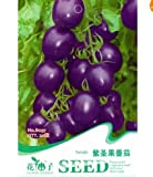 20 Seeds Purple Cherry Tomato Garden Organic Heirloom Fruit Vegetable Plant