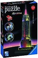 Ravensburger - 12566 - Puzzle 3D Building - 216 Pièces - Empire State Building - Night
