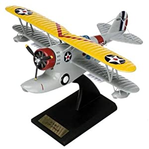 Grumman J2F-2 Duck Handcrafted Quality Desktop Aircraft Model Display / USMC Utility Amphibian Biplane Aircraft / Unique and Perfect Collectible Gift Idea / Aviation Historical Replica Gift Toy