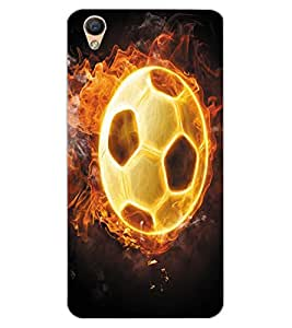 ColourCraft Flaming Football Design Back Case Cover for OPPO R9