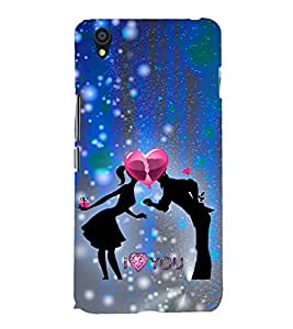 Love Couple 3D Hard Polycarbonate Designer Back Case Cover for OnePlus X :: One Plus X :: One+X