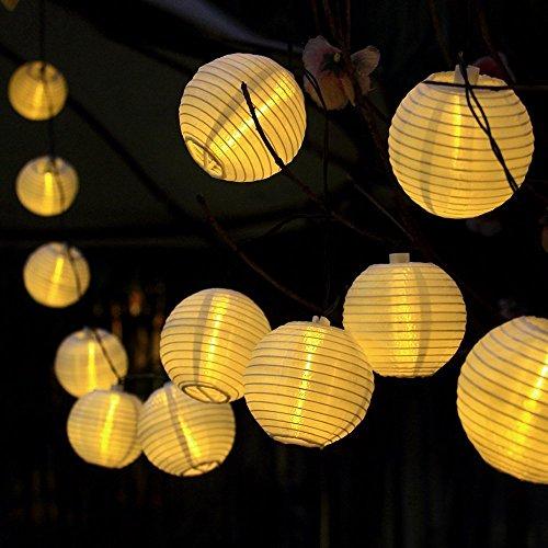 Uping, Stringa di luci, Catena Luminosa, 20 LED, 20 Lanternine, 4,2 Metri, Impermeabile, Decorativa da Interni e Esterni, Anche per Festa, Giardino, Natale, Halloween, Matrimonio