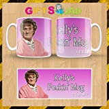 PINK MRS BROWN'S BOYS FECKIN' MUG/CUP - Browns Boys - PERSONALISED CUSTOM - Any Name - 100% Diswasher safe - Great Birthday Christmas Or Novelty Gift - Packaged in a white smash proof mug box