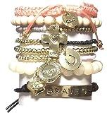 CAT HAMMILL ( キャットハミル ) オーストラリア の 勇敢 勇気 メッセージ が 詰まった チャーム ブレスレットセット ブレイブ セット 1 heart cross gold bracelet ブレスレット ハート クロス ゴールド ポーチ ゲット 海外 ブランド