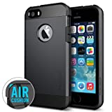 Spigen iPhone 5 / 5S Case Tough Armor - Retail Packaging - Satin Silver