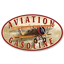 Aviation Gasoline by Vintage Sign Co